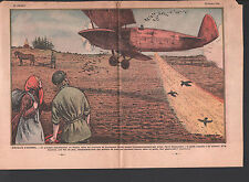 LENINGRAD RUSSIA RUSSIE Sowing BY PLANE Aerial seeding   ILLUSTRATION 1934