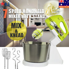 7 Speed Electric Hand Mixer Whipper/Strip Beater Food Powerful Appliances&Stand