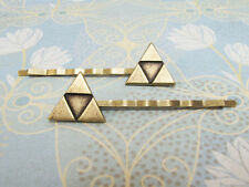 Bronze Triangle Hair Pins, bobby pins, inspired by legend of zelda