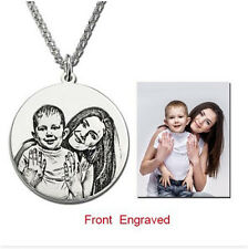 Personalized Photo engraved silver necklace. Christmas/Birthday/New Year Gift!!!