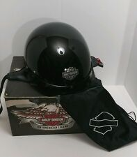 Harley Davidson Half Helmet Black Medium 98249-06V/000M w/ Box & Bag