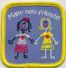 Girl Boy Cub MAKE NEW FRIENDS KEEP OLD Fun Patches Crests Badges SCOUT GUIDE