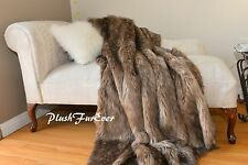 Most Popular Brown Mountain Coyote Faux Throw Comforters Blanket Mink 5x6