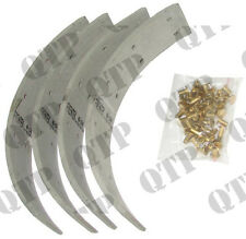 Fordson Major,Super,Power Tractor Brake Drum Lining & Rivets Kit Great Quality!