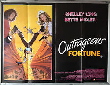 Cinema Poster: OUTRAGEOUS FORTUNE 1987 (Quad) Bette Midler