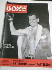 RIVISTA LA BOXE NEL MONDO N.9 1957 PUGILE ARTENIO CALZAVARA PATTERSON I-10-36