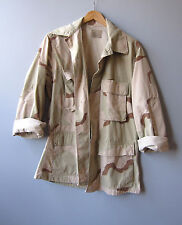 Vintage Camo Military Jacket Shirt Desert Camouflage Small