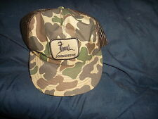 John Deere Brown Mesh/Camouflage  Cloth Cap New Without Tags