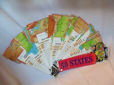 FANDEX Family Guides 50 STATES Learn the United States w/ 50 Die-Cut Cards