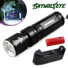 HOT Tactical 6000LM CREE XM-L T6 LED Flashlight Torch Zoom Light+26650+Charger