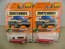 1999 MATCHBOX SUPERFAST #62 2 GREAT OUTDOORS POP-UP CAMPER MOC'S