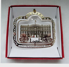 The White House Christmas Ornament Washington D.C. Travel Brass Souvenir Gift