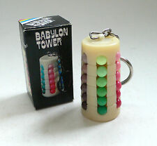 Vintage Ideal RUBIK'S RUBIK Keychain Model BABYLON TOWER Puzzle MIB 1980's