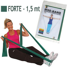 Msd FASCIA ELASTICA VERDE 1,5 mt FORTE Resistenza Lattice Band Fitness Pilates