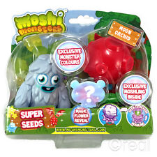 New Moshi Monsters Super Seeds Furi & Red Moon Orchid Action Figure Official