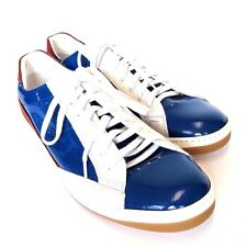 L-2045217 New Fendi Electric Blue & White Sneakers Shoes Size US 11 UK 10