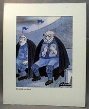 1978 CHARLES ADDAMS Werewolf Football TV Guide Cover Portrait dye transfer print