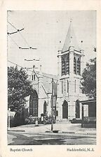 A87/ Haddonfield New Jersey NJ Postcard 1941 Baptist Church Building