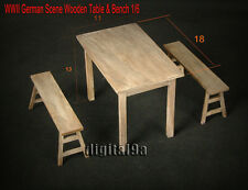 "HOT FIGURE TOY 1/6 scenario Solid wood Tables and chairs suit 12"" Action Figure"