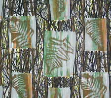 vintage 1950s Francis Price Fernwood floral screenprint cotton interiors fabric