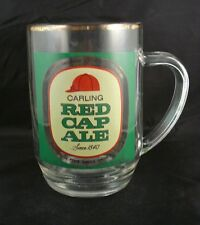 Vintage Carling Red Cap Ale Clear Glass Beer Mug with Handle - Toronto Canada