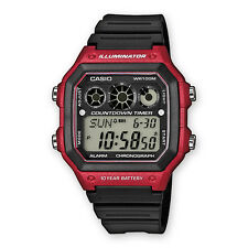 CASIO AE-1300WH-4A***ENVIO CERTIFICADO***ROJO*RED*10 YEARS BATTERY*