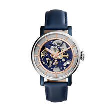 "Fossil ME3136 ""ORIGINAL BOYFRIEN""Automatic Skeleton Blue Leather-Strap Watch"