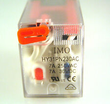 IMO Relay HY31PN230AC Coil 7A 250VAC/30VDC 3Pole CH/Over  I209M MBB013b