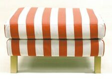 IKEA Karlstad Footstool Slipcover Rannebo Red White Stripe Ottoman Cover NEW NIP