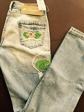 New Blumarine Embrodery Flowers with Strass  Jeans 39/33 Made In Italy