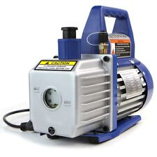 Single-Stage 3CFM Rotary Vane Deep Vacuum Pump 1/4HP HVAC AC Air tool R410a R134