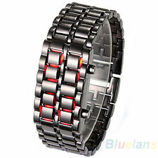 MENS WOMENS LAVA IRON SAMURAI METAL LED  BRACELET WATCH