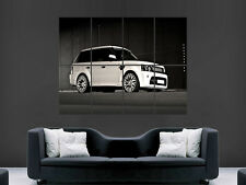 WHITE RANGE ROVER 4X4  SUPERCAR FAST HOT ART WALL LARGE IMAGE GIANT POSTER