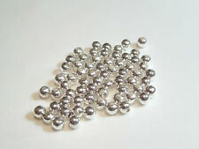 10gms (100+) 4mm Silver Plated Metal Spacer/Choker Beads