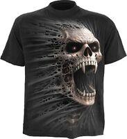 Spiral Direct CAST OUT Mens T-Shirt Top Tee Vampire Skull Horror Goth Rock Biker