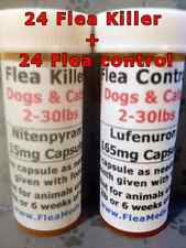 Flea Control + Killer Dogs/Cats 2-30lbs 24 Flea Killer & Control Capsules Combo