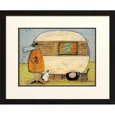 """Whimsical Art Print """"Home from Home"""" by Artist Sam Taft - IC21222 - Camper Small"""
