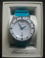 Kenneth Cole New York KC2789 Silicone Aqua Band Date Womens Watch