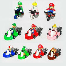Lot De 10pcs Super Mario Bros Kart Racers Pull Back Cars  Super Mario Figurines