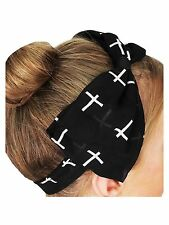 Black and White Cross Bow Head Band