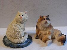 2 Boyds Bears & Friends The Cattitude Collection Grouchy & Buddha Cat Figures