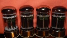 4 PIECES * QUAD * NOS SYLVANIA 7236 POWER TUBES DOUBLE  O O GETTERS * RARE 6080
