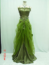 Cherlone Green Ballgown Prom Bridesmaid Formal Wedding/Evening Dress Size 16-18