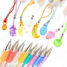 8Pc Scented Gel Pens +FRUIT CHARMS+ Fun Stationery Children Gift/Present Smelly