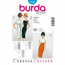 Burda Ladies 60's Style Cocktail Dress Sewing Pattern 7043