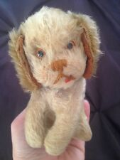 """RARE Vintage Schuco Yes/No Mechanism Puppy Dog Red Tongue Mohair 5"""" Works Well"""