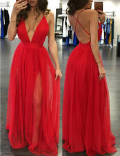 UK8-10 Women Evening Party Cocktail Formal Bridesmaid Prom Gown Dress Summer 4