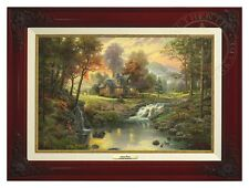 Thomas Kinkade - Mountain Retreat – Canvas Classic (Brandy Frame)