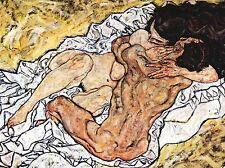 EGON SCHIELE THE EMBRACE OLD MASTER PAINTING PRINT POSTER 842OMLV