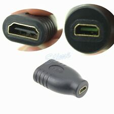 HDMI Micro Female to HDMI 1.4 Standard Female Adapter Coupler Converter Adaptor